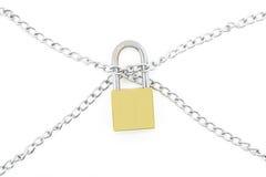 chain låswhite för bakgrund Arkivbild
