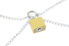 chain låswhite för bakgrund Arkivfoto