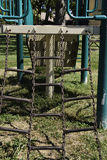 Chain Ladder in Playground. A chain ladder on playground equipment in a public park Stock Photos