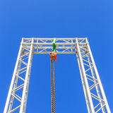 Chain lift on blue sky Stock Photography