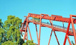 Chain Lift On Silver Bullet Roller Coaster royalty free stock photography