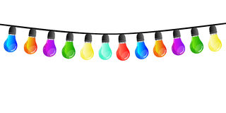 Chain of lights isolated Stock Images