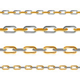 Chain Line Set. Vector Royalty Free Stock Photos