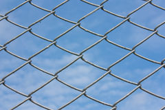 Chain link. Steel chainlink that boundary land countryside highway Stock Photo