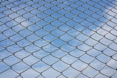 Chain link. Steel chainlink that boundary land countryside highway Royalty Free Stock Photos