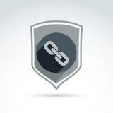 Chain link classic icon. Stock Photo