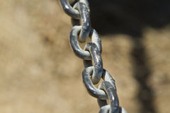 Chain Link Close Up Royalty Free Stock Photography