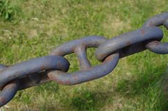 A chain link close up. Chain link close up in a park in the town of Vansbro in Royalty Free Stock Photos