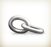 Chain link, icon Stock Image