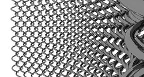 Wrapped Chain link fence Royalty Free Stock Images