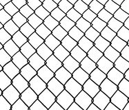 Chain link fence. Wire fence. Seamless. White background. Vector available Stock Images