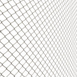 Chain Link Fence. A 3D chain link fence texture isolated over white.  This tiles seamlessly as a pattern in any direction Royalty Free Stock Photo