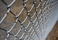 Chain-link Fence. With shallow depth of field royalty free stock photo
