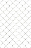 Chain link fence. Isolated on white background royalty free stock photos