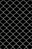 Chain link fence. Isolated on black royalty free stock image