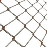 Chain link fence. Background illustration of metal fencing material Stock Photo