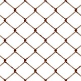 Chain link fence. Illustration of rusty industrial fencing material Royalty Free Stock Photography