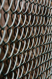 Chain Link Fence. This is a green chain link fence in a nearby yard Stock Photos
