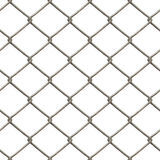 Chain Link Fence. A 3D chain link fence texture that tiles seamlessly as a pattern in any direction Stock Photo