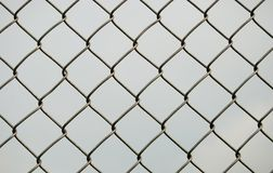 Chain link fence. Back ground stock photos