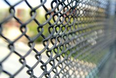 Chain Link Fence. Diminishing into the distance Royalty Free Stock Photography