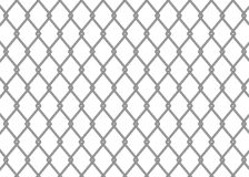 Chain link fence. On white background Royalty Free Stock Photo