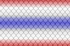 Chain link fence Stock Images