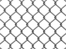 Chain Link Fence Background. On white background Royalty Free Stock Photography