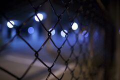 Chain-Link Fence Background Stock Photography