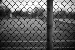 Chain Link Fence Background Stock Image