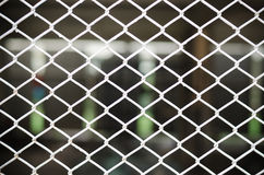 Chain link fence background Stock Photo