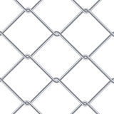 Chain Link Fence Background. Industrial Style Wallpaper. Realistic Geometric Texture. Steel Wire Wall Isolated On White. Vector il. Chain Link Fence Background Stock Photography