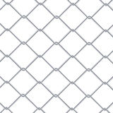 Chain Link Fence Background. Industrial Style Wallpaper. Realistic Geometric Texture. Steel Wire Wall Isolated On White. Vector il. Chain Link Fence Background Royalty Free Stock Images