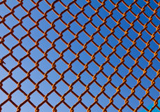 Chain Link Fence Background Pattern Stock Images