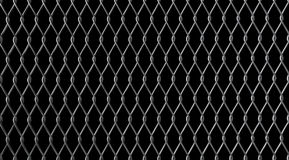 Chain Link fence on black Royalty Free Stock Photos