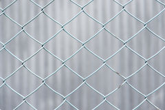 Chain-link fence of blue Royalty Free Stock Images