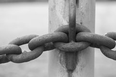 Chain link fence. A close up B&W abstract image of a rusty chain link fence Royalty Free Stock Image
