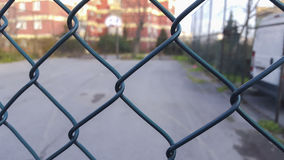 Chain link fence. Close-up of a metallic wire net Stock Photo