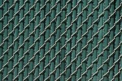 Urban Chain Link Closeup Abstract Texture Background. Chain link fence closeup abstract texture background with urban city background Royalty Free Stock Photos