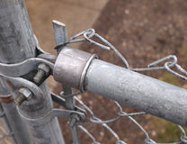 Chain link fence closeup. Stock Image