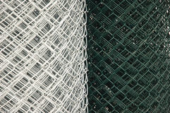 Chain Link Fence coils Royalty Free Stock Photography
