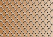 Chain link fence with copper background.  Royalty Free Stock Photo
