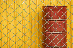 Chain link fence of factory image. Chain link fence of factory image, shallow depth of field Royalty Free Stock Photography