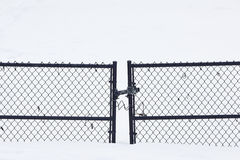 Chain link fence gate Stock Photos