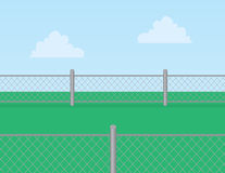 Chain Link Fence Grass Royalty Free Stock Photography