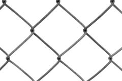Chain-link fence isolated on white Royalty Free Stock Images