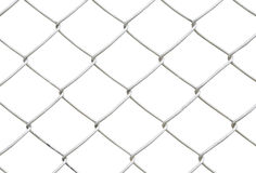 Chain link fence isolated on white background Stock Photos