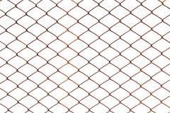 Chain link fence. Isolated on white background with clipping path Royalty Free Stock Photography