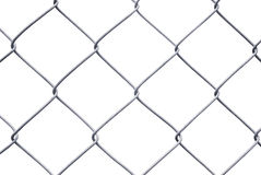 Chain Link Fence Isolated on White Royalty Free Stock Photo