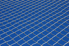 Chain Link Fence Looking Up Royalty Free Stock Image